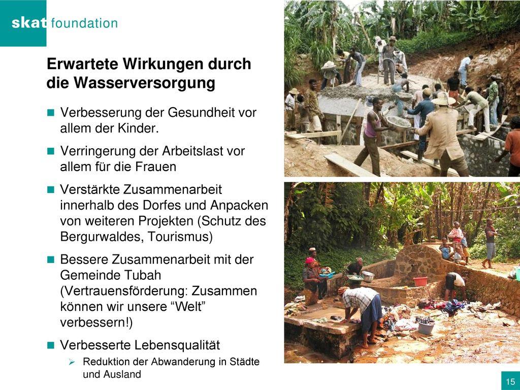Erwartete Wirkungen durch die Wasserversorgung