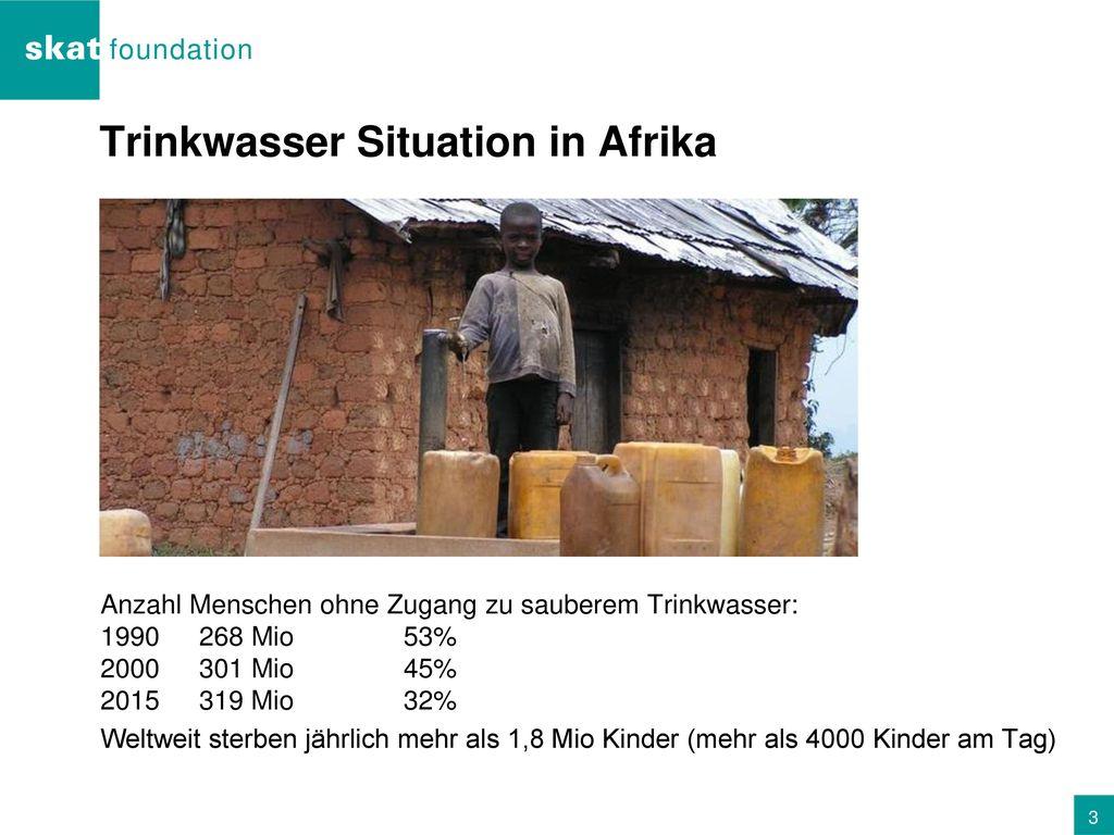 Trinkwasser Situation in Afrika
