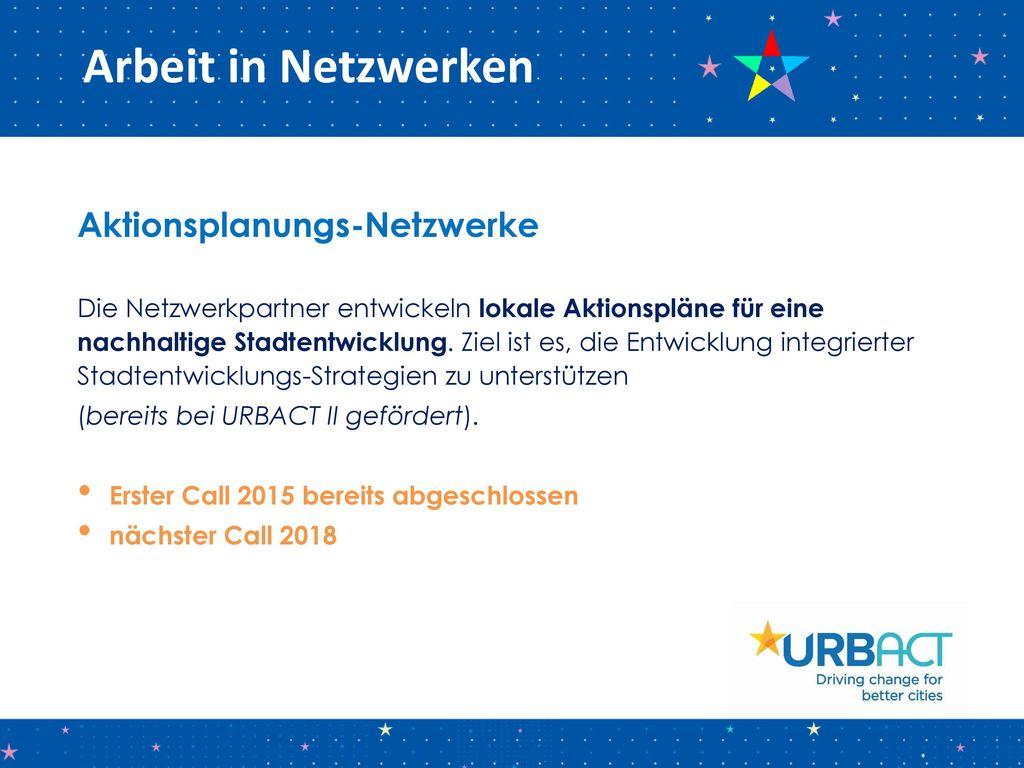 Arbeit in Netzwerken Aktionsplanungs-Netzwerke