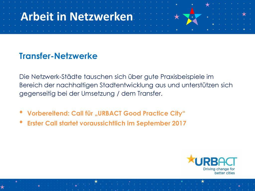 Arbeit in Netzwerken Transfer-Netzwerke
