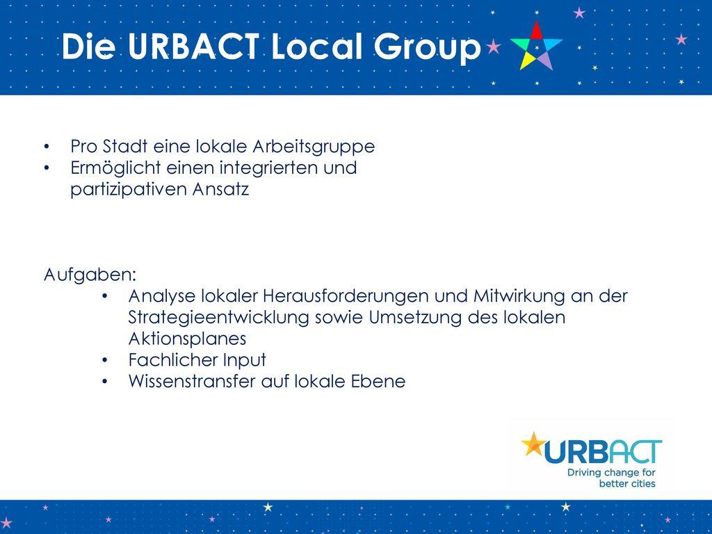 Die URBACT Local Group Pro Stadt eine lokale Arbeitsgruppe