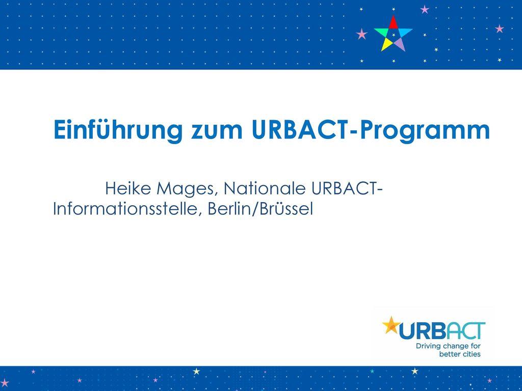Einführung zum URBACT-Programm