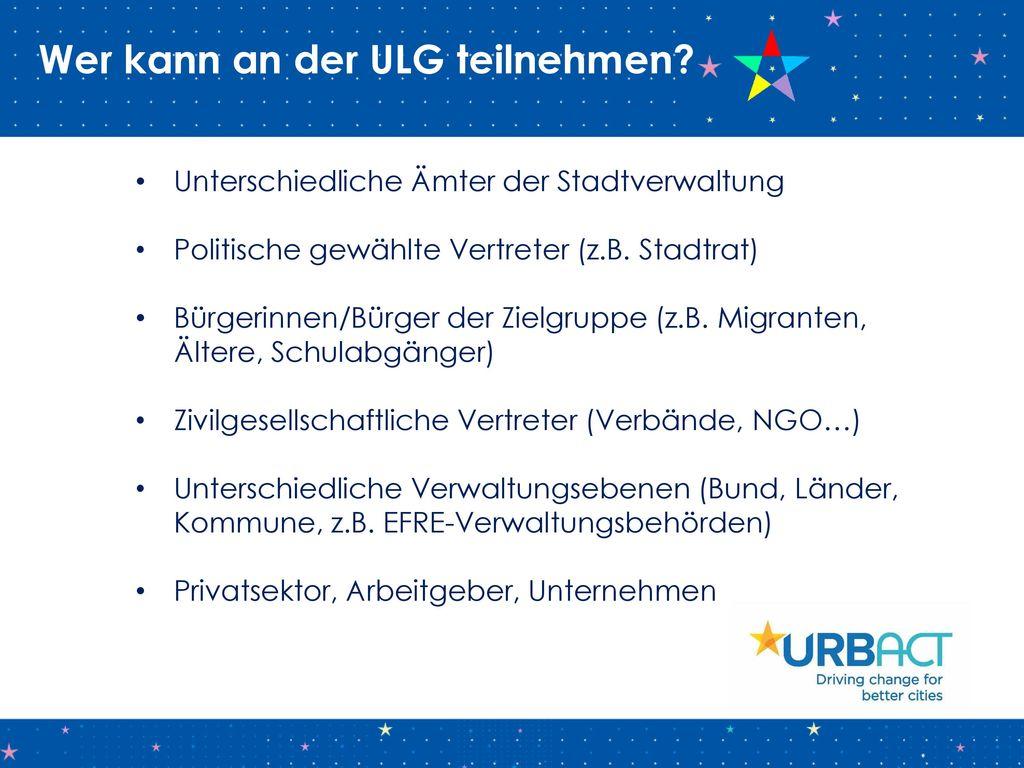 Wer kann an der ULG teilnehmen