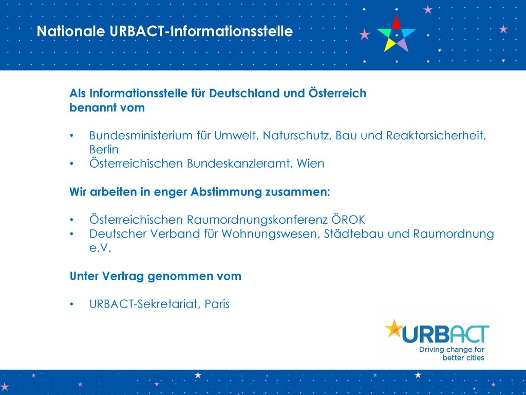 Nationale URBACT-Informationsstelle