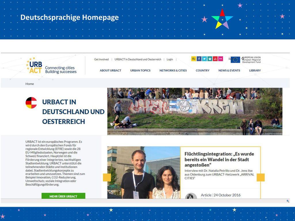 Deutschsprachige Homepage