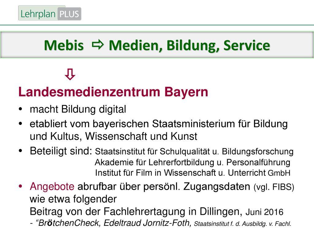 Mebis  Medien, Bildung, Service