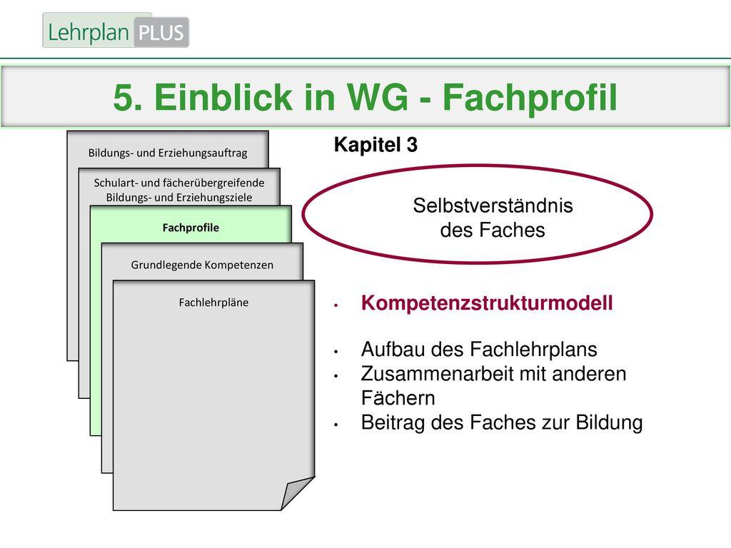 5. Einblick in WG - Fachprofil