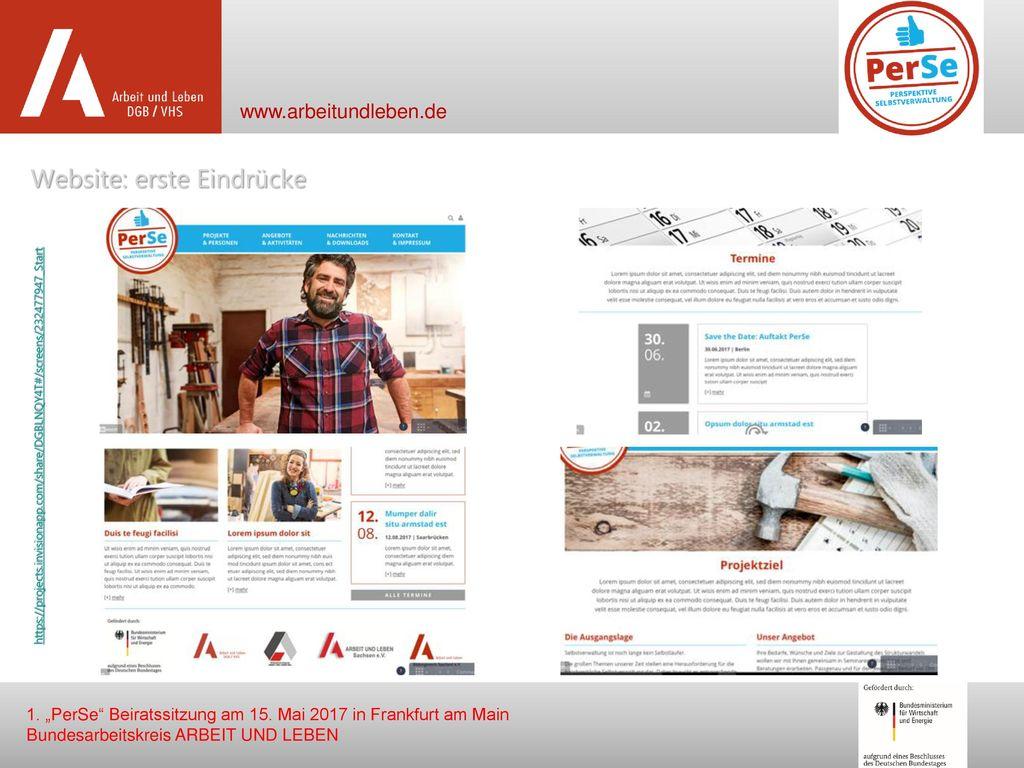 Website: erste Eindrücke