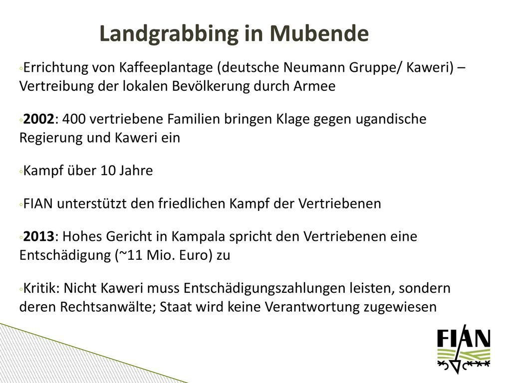 Landgrabbing in Mubende