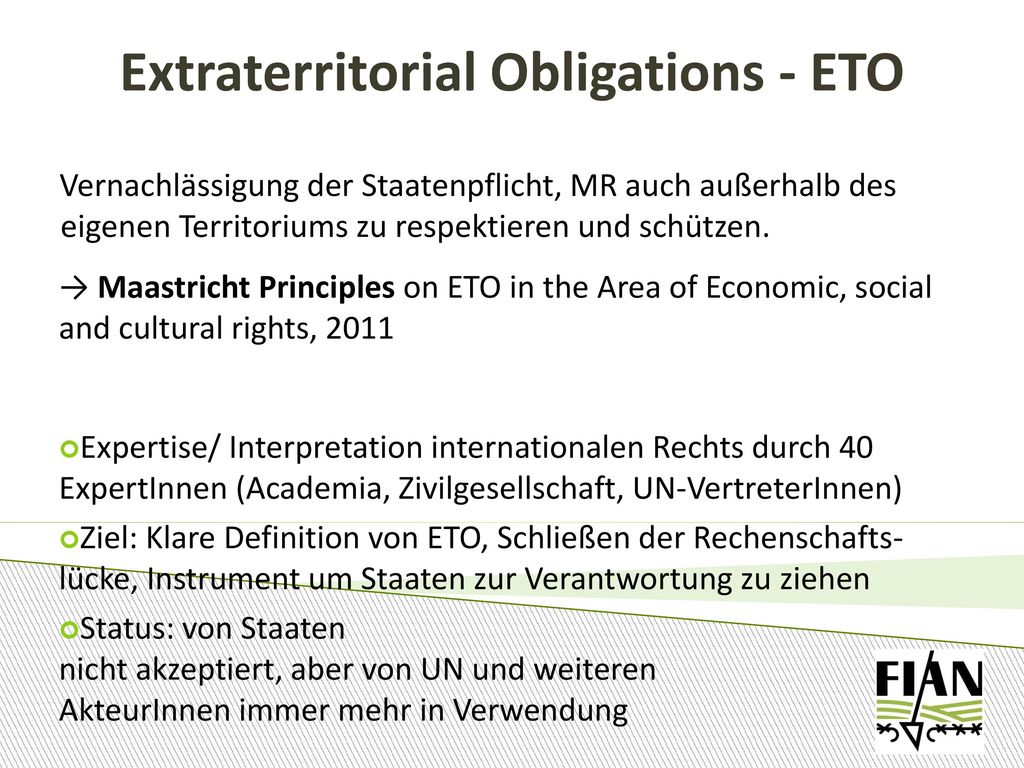 Extraterritorial Obligations - ETO