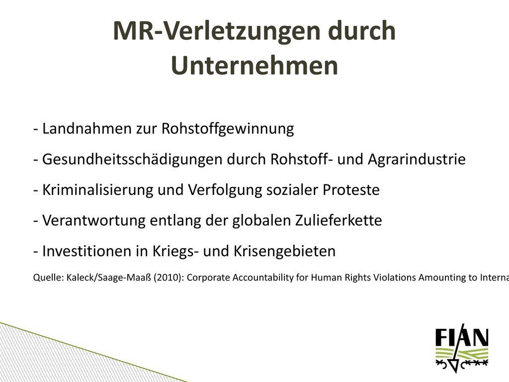 MR-Verletzungen durch Unternehmen