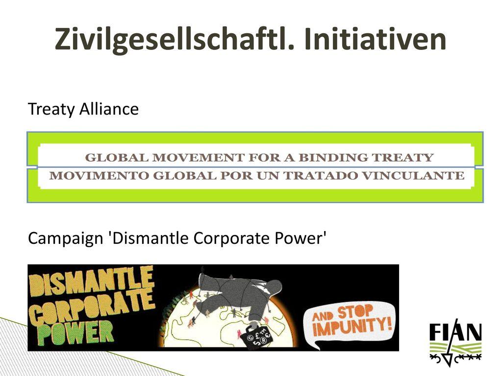 Zivilgesellschaftl. Initiativen