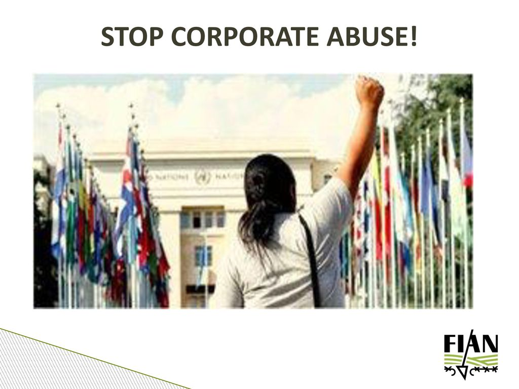 STOP CORPORATE ABUSE!