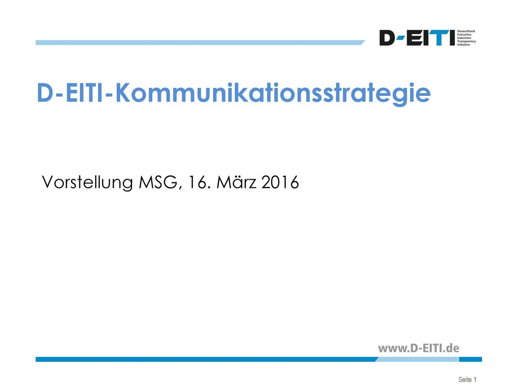D-EITI-Kommunikationsstrategie