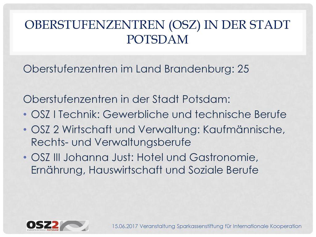 Oberstufenzentren (OSZ) in der Stadt Potsdam
