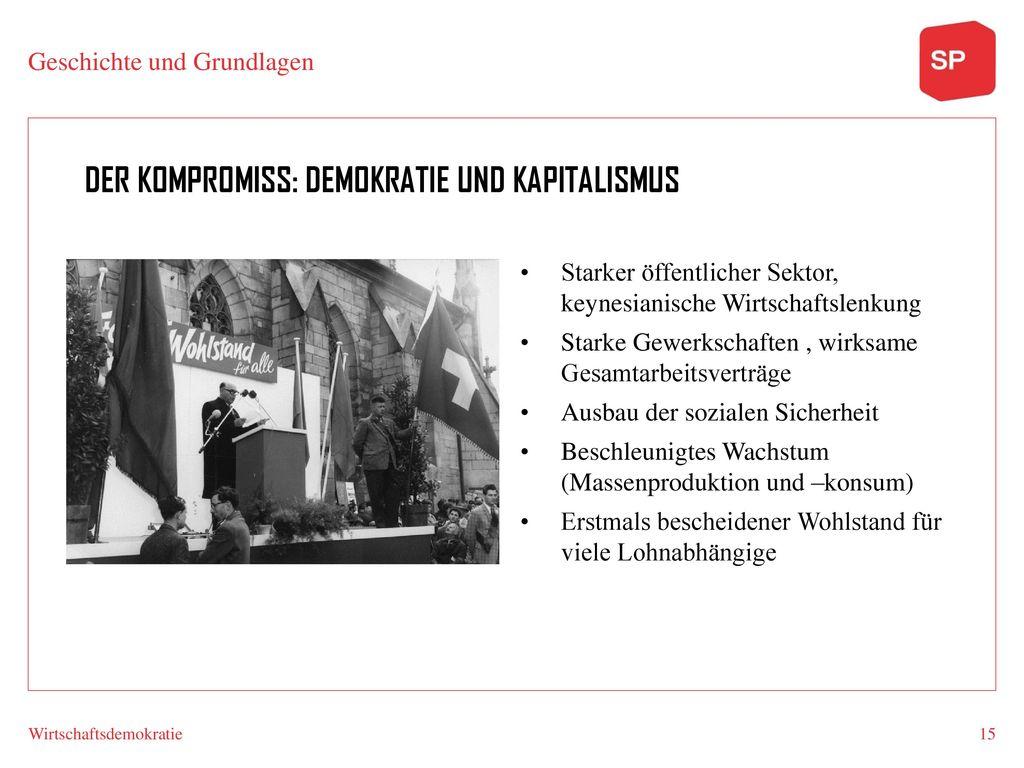Der KOmProMISS: DemOKRATIe Und KapiTalISMUs