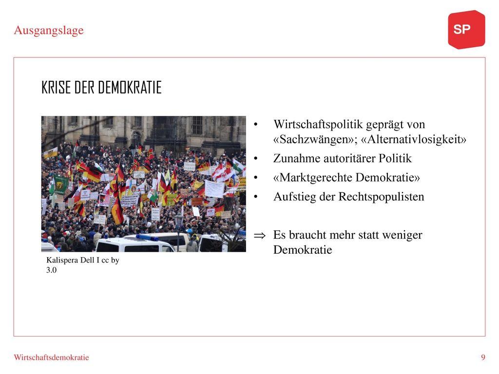 Krise der Demokratie Ausgangslage
