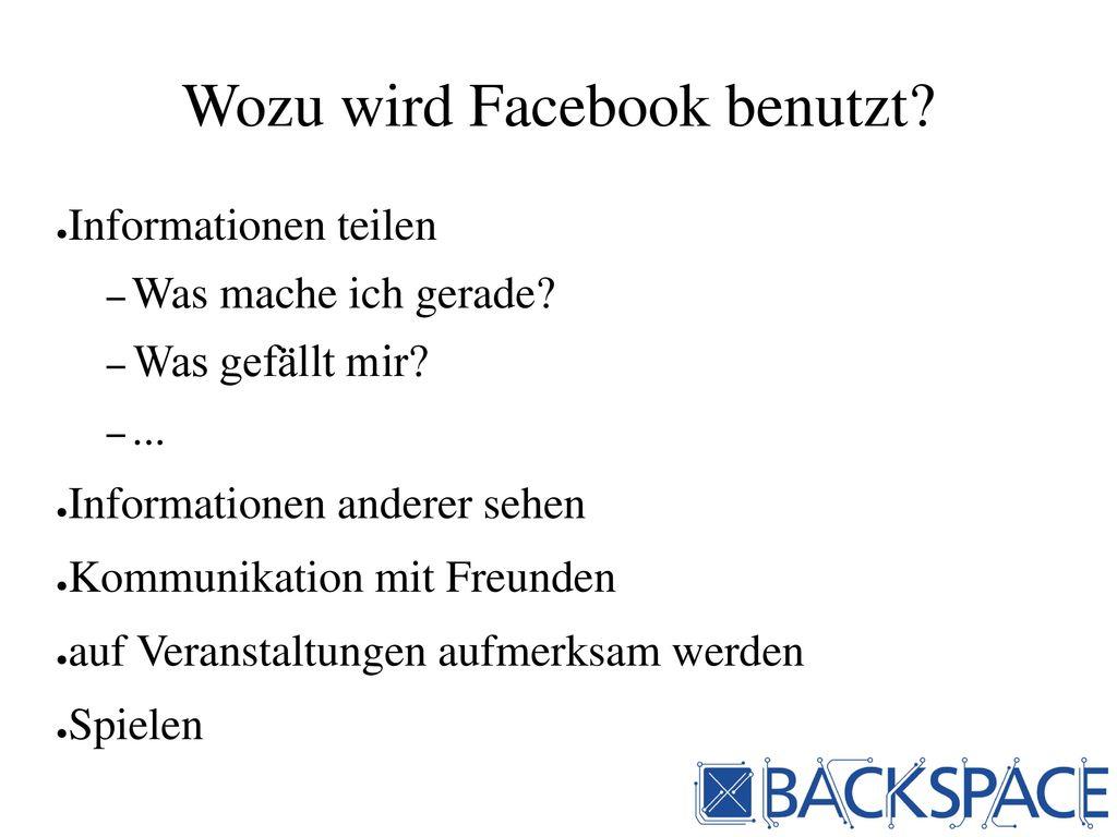 Wozu wird Facebook benutzt