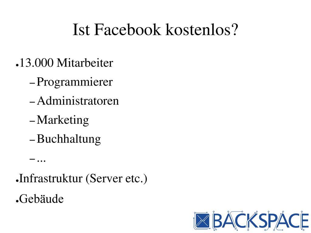 Ist Facebook kostenlos