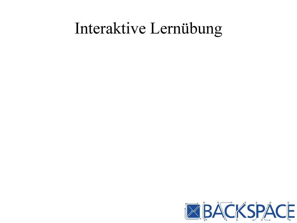 Interaktive Lernübung