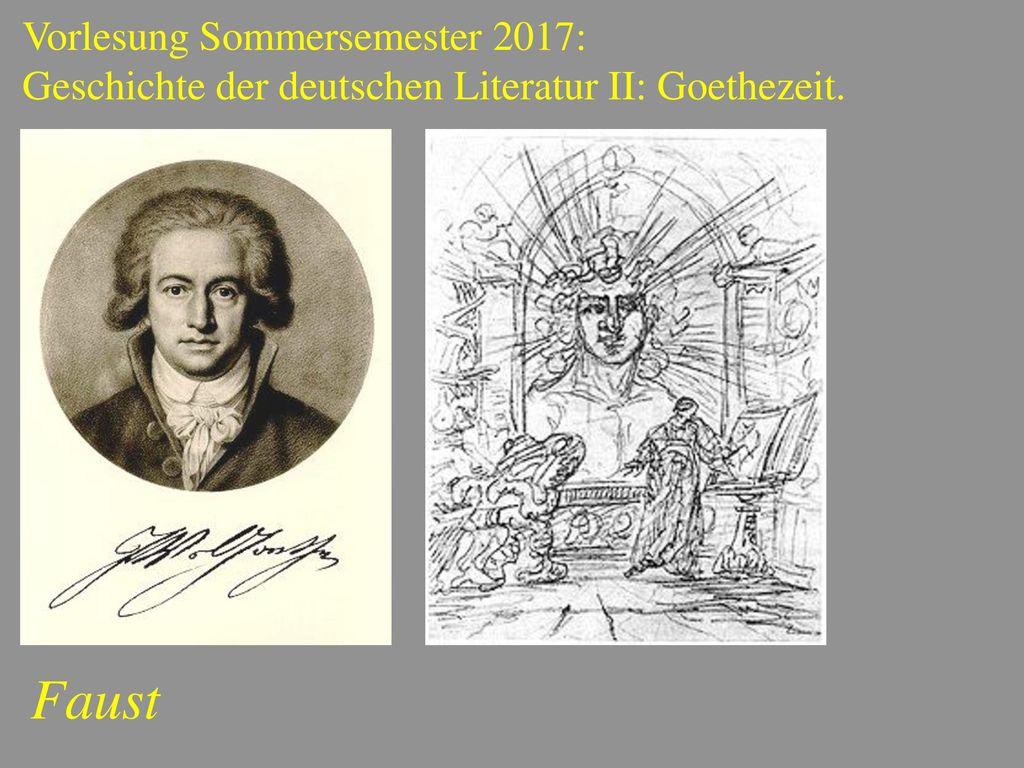 Faust Vorlesung Sommersemester 2017: