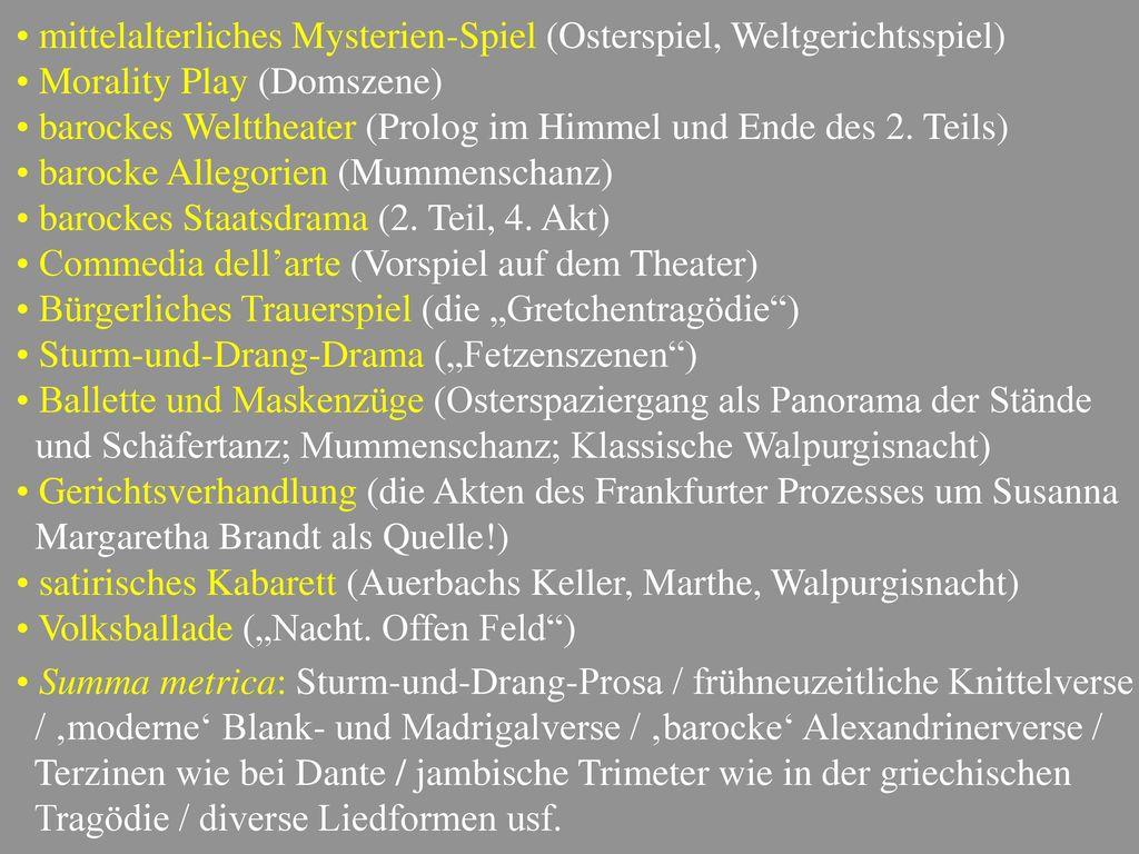 mittelalterliches Mysterien-Spiel (Osterspiel, Weltgerichtsspiel)