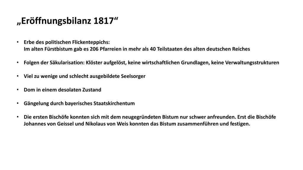 """""""Eröffnungsbilanz 1817"""