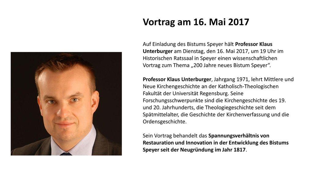 Vortrag am 16. Mai 2017