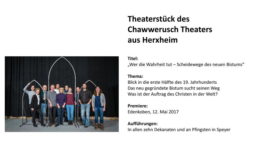 Theaterstück des Chawwerusch Theaters aus Herxheim Titel: