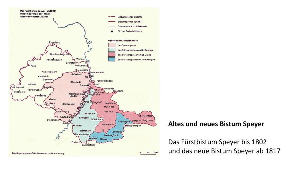 Altes und neues Bistum Speyer