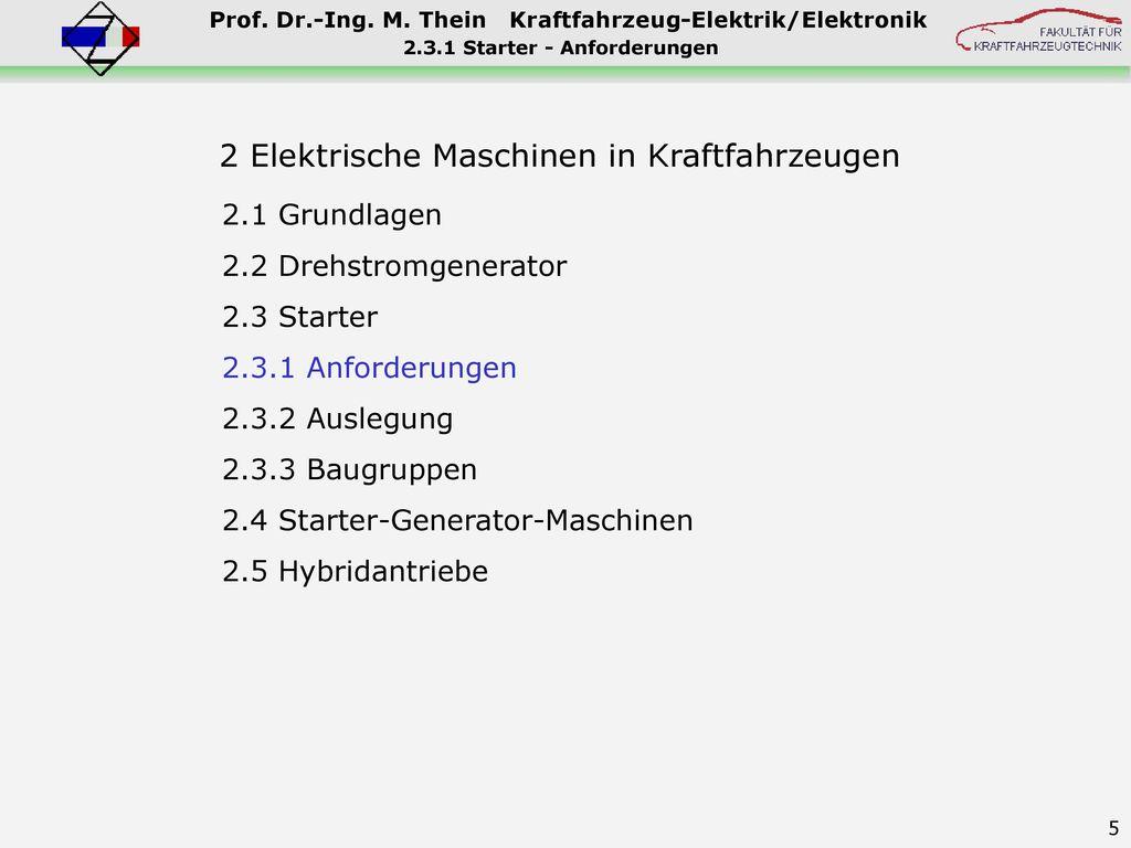 2.3.1 Starter - Anforderungen