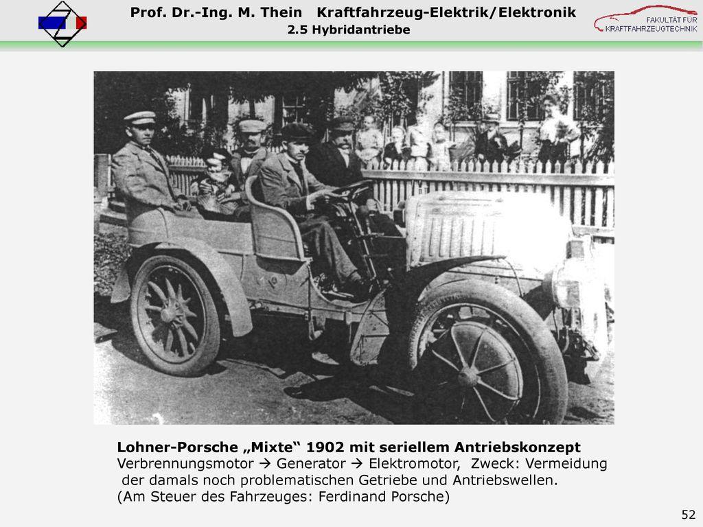 """Lohner-Porsche """"Mixte 1902 mit seriellem Antriebskonzept"""