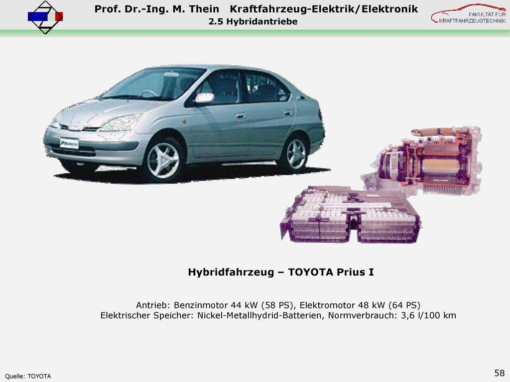 Antrieb: Benzinmotor 44 kW (58 PS), Elektromotor 48 kW (64 PS)