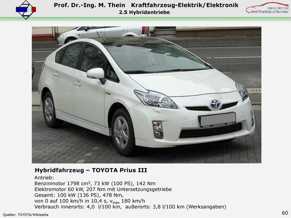 Hybridfahrzeug – TOYOTA Prius III