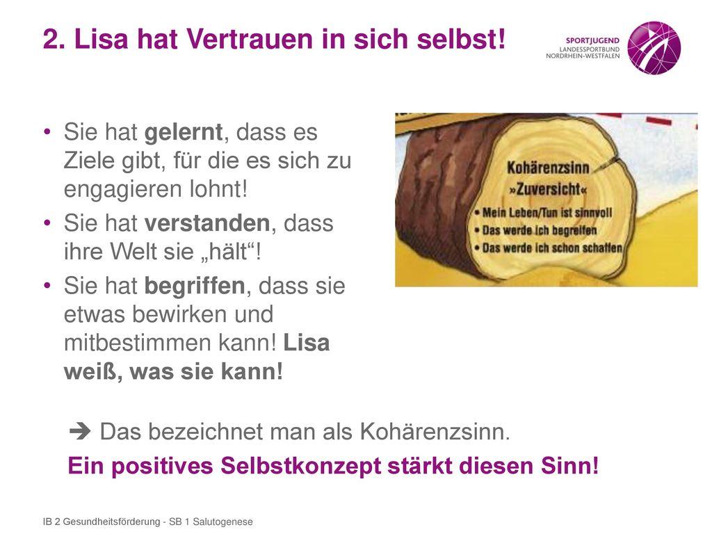 2. Lisa hat Vertrauen in sich selbst!