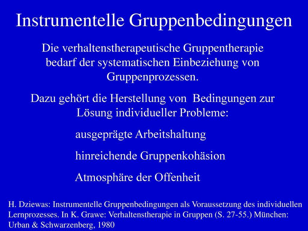Instrumentelle Gruppenbedingungen