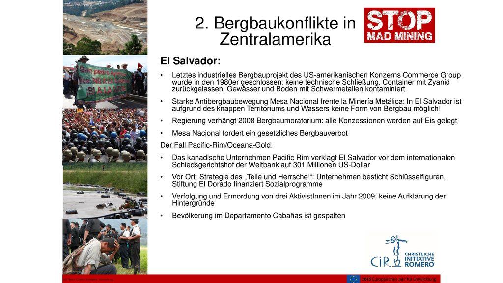 2. Bergbaukonflikte in Zentralamerika