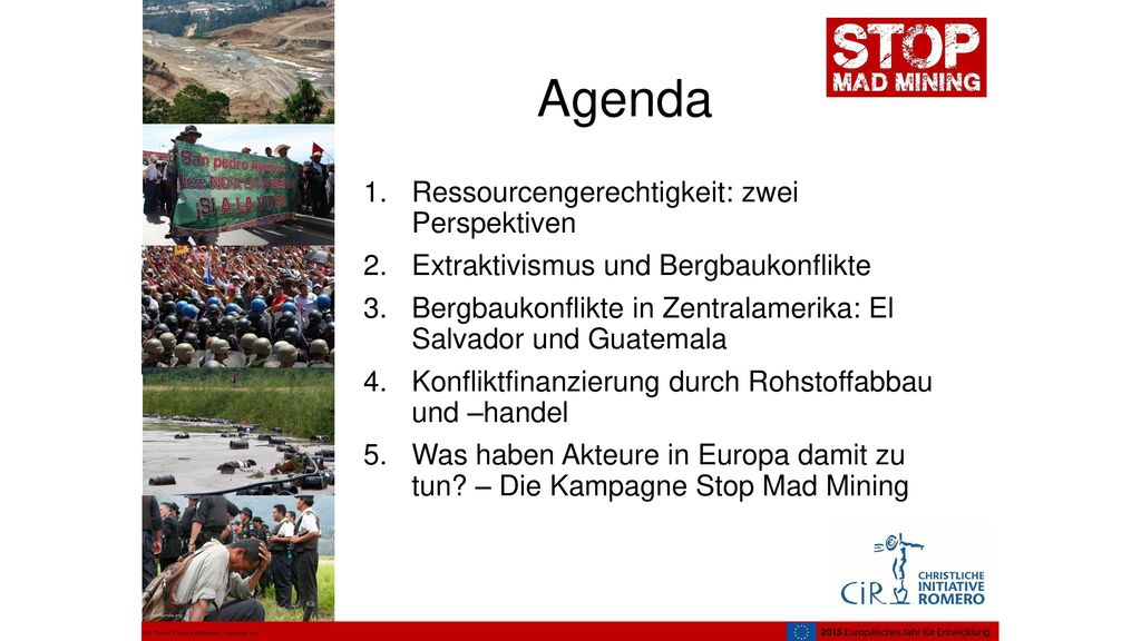 Agenda Ressourcengerechtigkeit: zwei Perspektiven