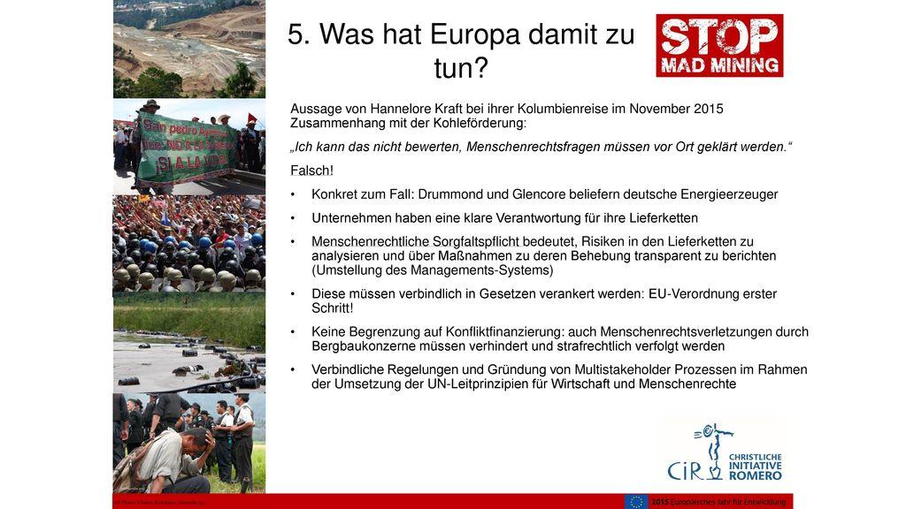 5. Was hat Europa damit zu tun
