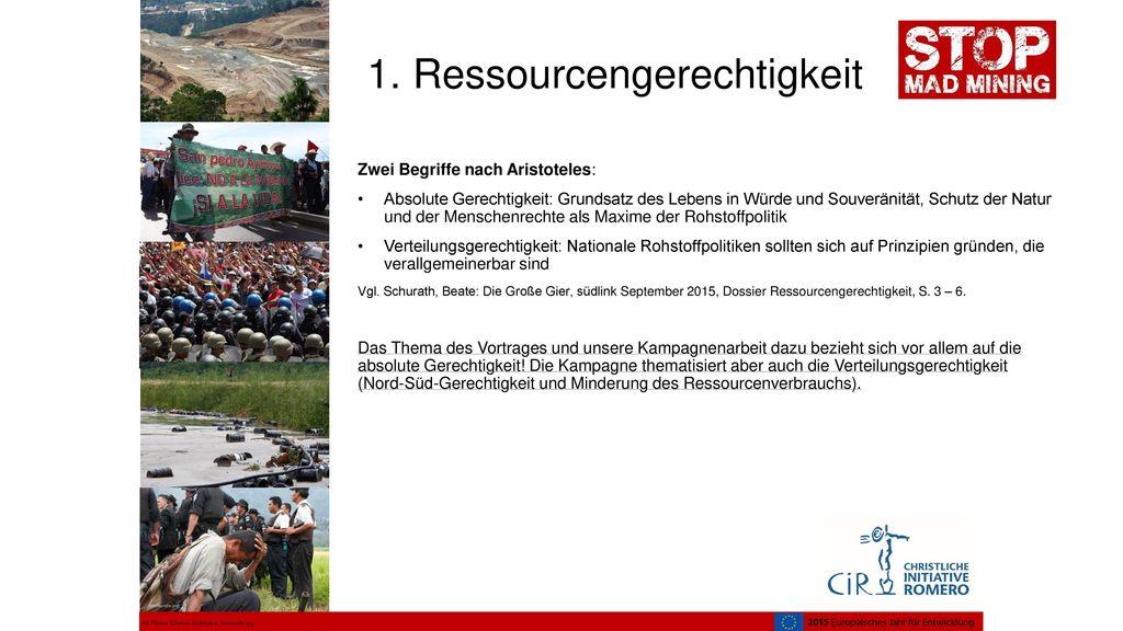 1. Ressourcengerechtigkeit