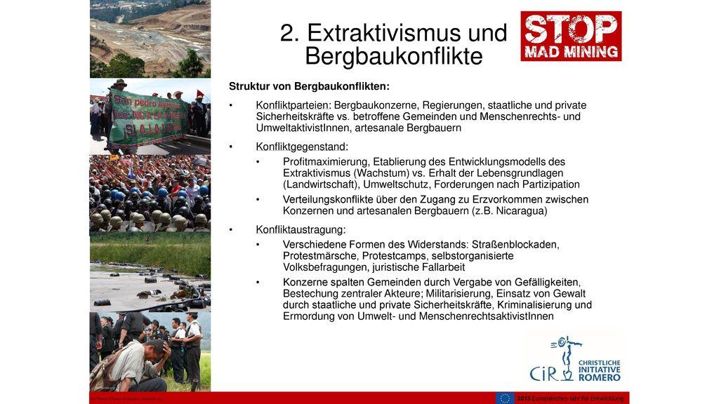 2. Extraktivismus und Bergbaukonflikte