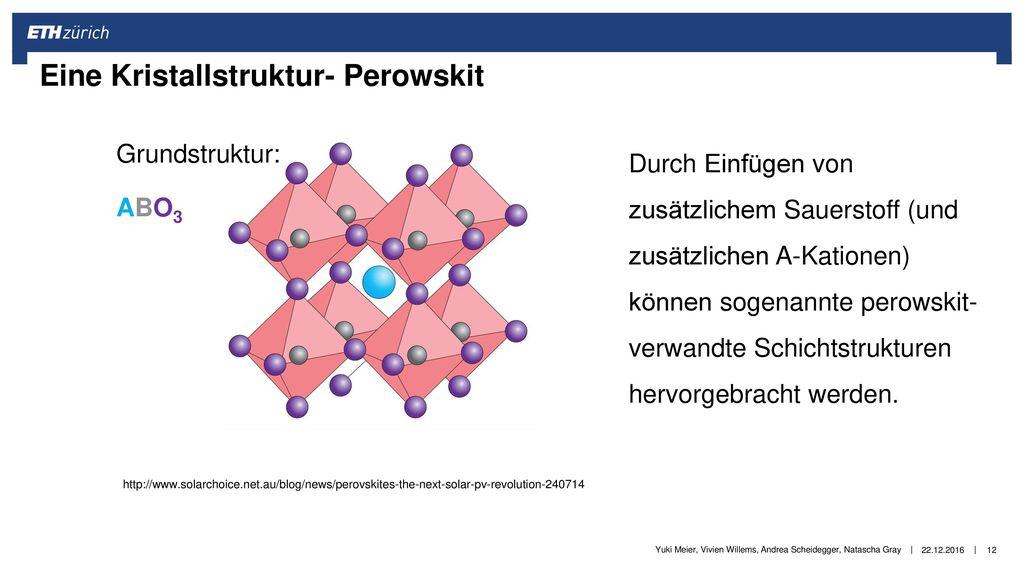Eine Kristallstruktur- Perowskit