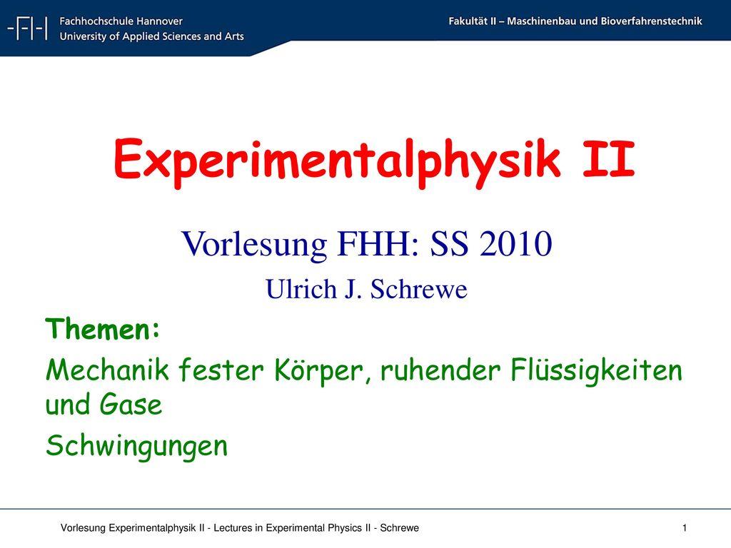 Experimentalphysik II
