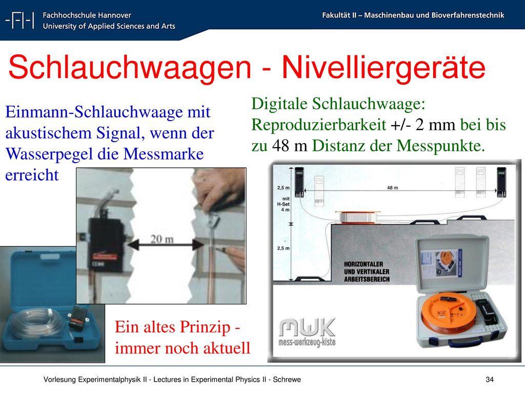 Schlauchwaagen - Nivelliergeräte