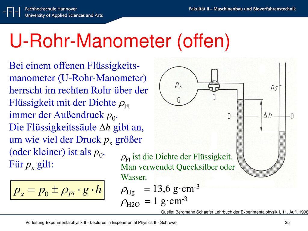 U-Rohr-Manometer (offen)