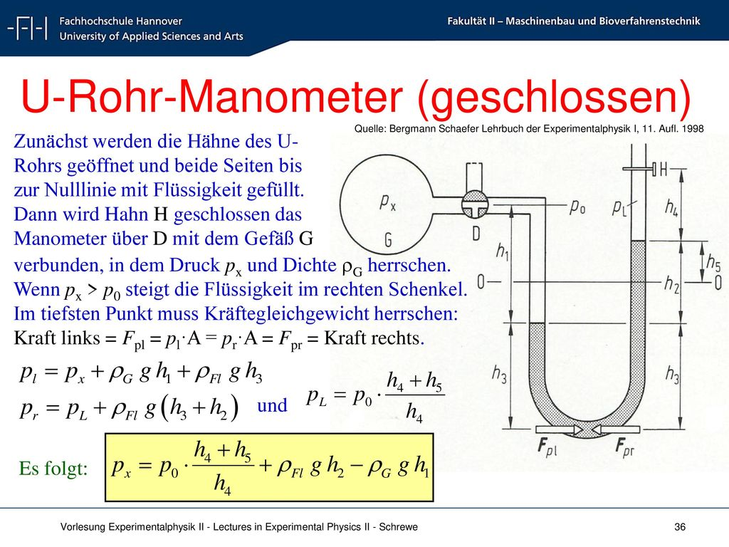 U-Rohr-Manometer (geschlossen)