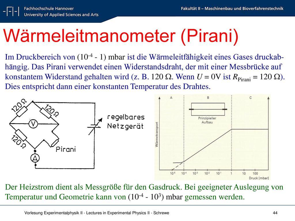 Wärmeleitmanometer (Pirani)
