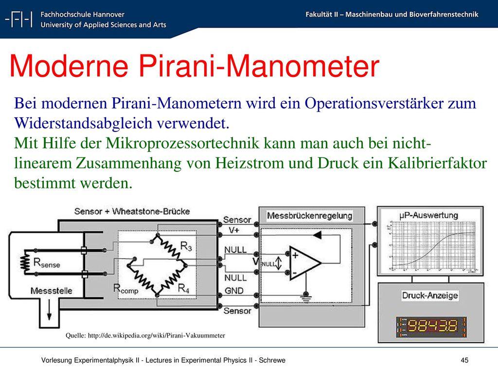 Moderne Pirani-Manometer