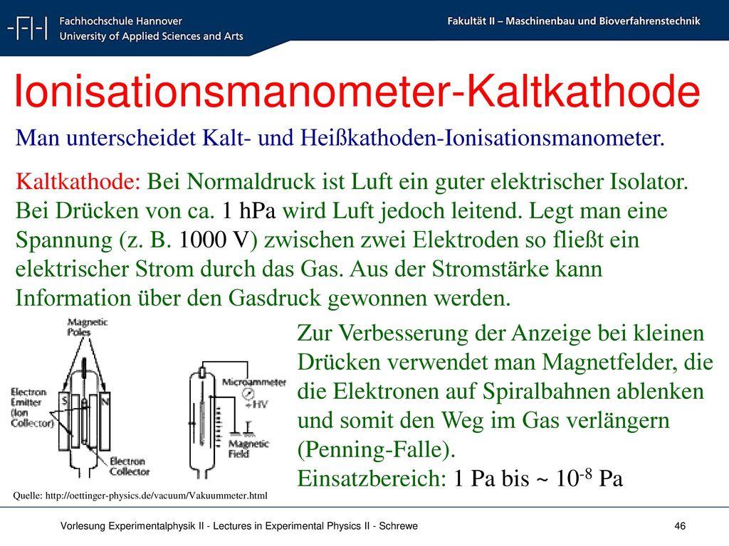 Ionisationsmanometer-Kaltkathode