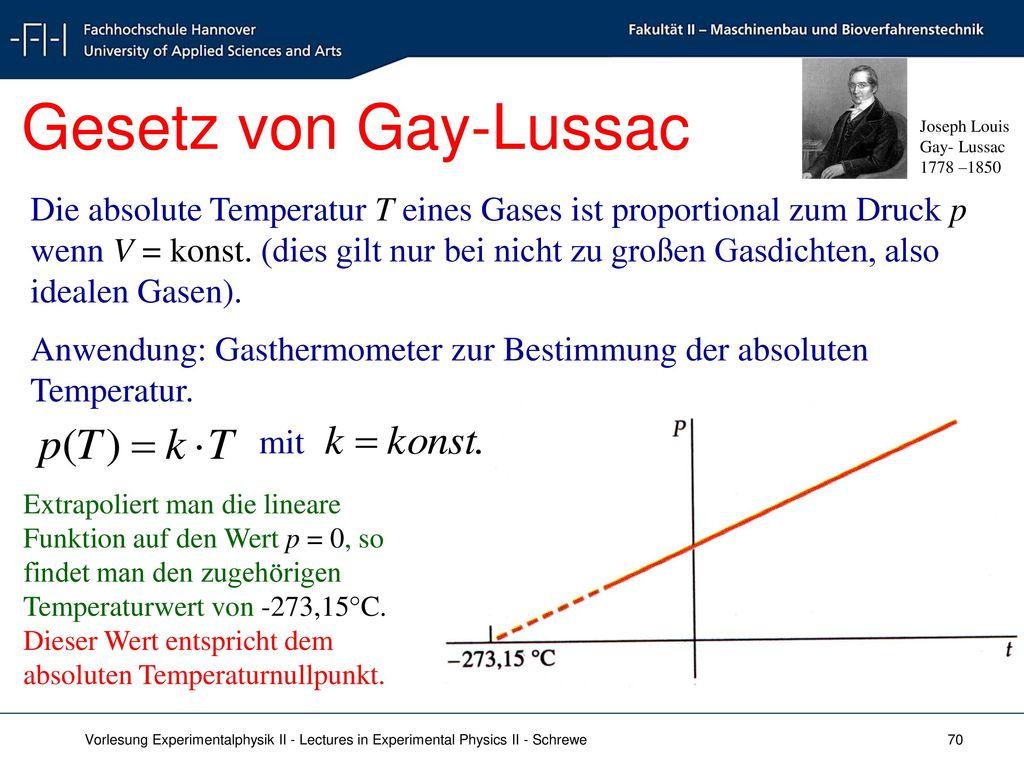 Gesetz von Gay-Lussac Joseph Louis. Gay- Lussac. 1778 –1850.